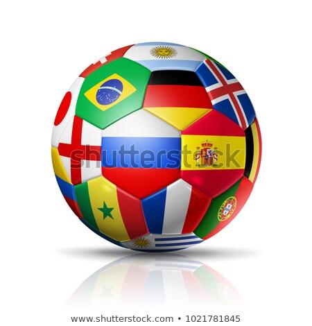 Alemanha bandeira futebol futebol cores Foto stock © nazlisart
