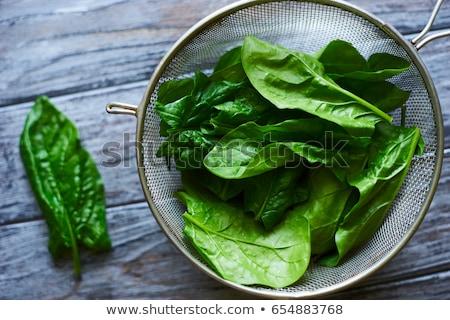 свежие зеленый шпинат металл пластина старые Сток-фото © Melnyk