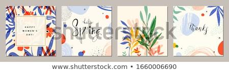 Stock fotó: Hello Summer Vector Illustration For Background Mobile And Social Media Banner Summertime Card Pa