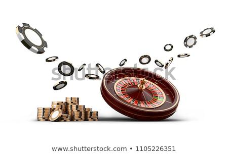 Cassino ilustração roleta jogar batatas fritas verde Foto stock © articular