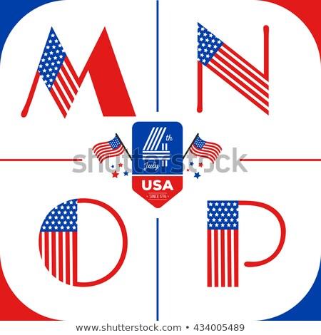boldog · nap · negyedik · amerikai · szív · égbolt - stock fotó © articular