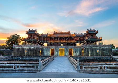 Real palacio Vietnam detalle pared Asia Foto stock © boggy