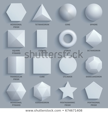 cone cylinder and hexagonal pyramid 3d shapes stock photo © robuart