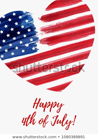 Happy Independence Day 4th of July Posters Heart Stock photo © robuart