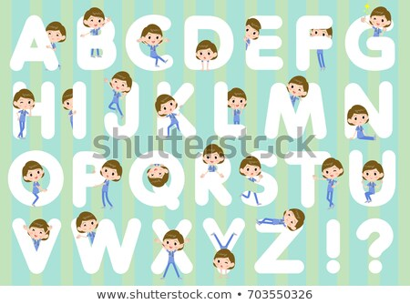 surgical operation blue wear women_A to Z Stock photo © toyotoyo