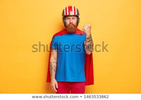 grande · queixo · sorridente · heróico · posição - foto stock © cthoman