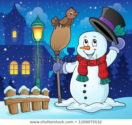 Winter snowman subject image 3 Stock photo © clairev