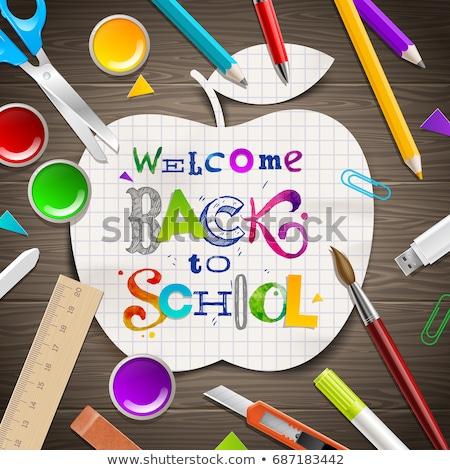 Design coloré crayon stylo typographie Photo stock © articular