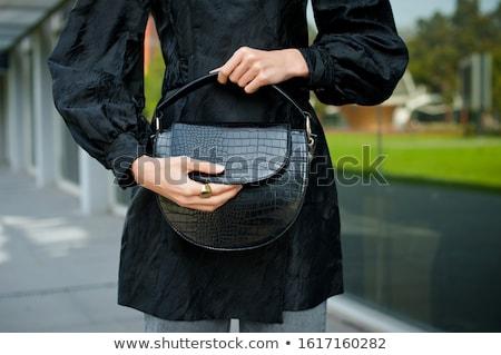 Fashionable crocodile leather handbag Stock photo © acidgrey