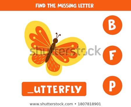 Spell English word butterfly Stock photo © bluering