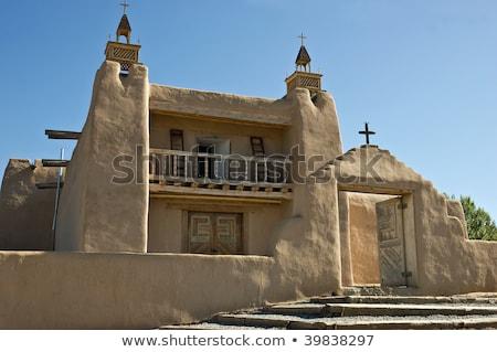 San Jose de Gracia Church in Las Trampas, New Mexico Stock photo © boggy