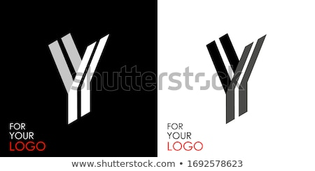 Black and white stripes Letter Y 3D Stock photo © djmilic