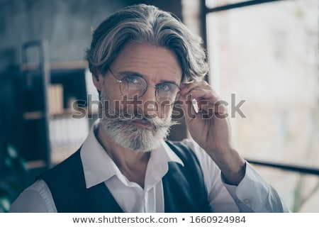 0fd103a7bb185b Man bril kantoor zakenlieden business persoon Stockfoto © dolgachov