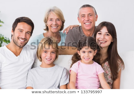 Grand-mère grand-père jeunes métis portrait Photo stock © feverpitch