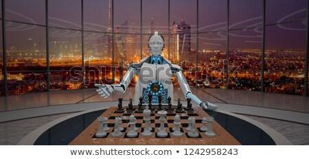 Chessboard On The Table in Dubai Stock photo © limbi007