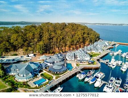 port stephens anchorage marina stock photo © lovleah