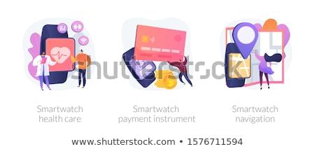 Smartwatch navigation concept vector illustration. Stock photo © RAStudio
