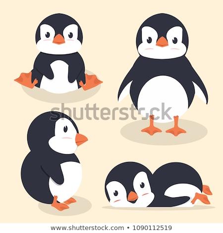 笑みを浮かべて ペンギン 漫画 実例 幸せ ストックフォト © cthoman