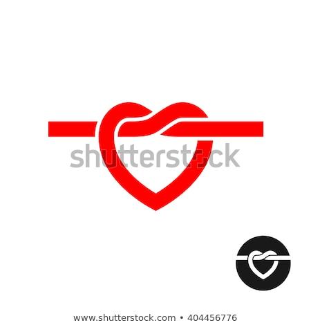 heart knot black vector icon design Stock photo © blaskorizov