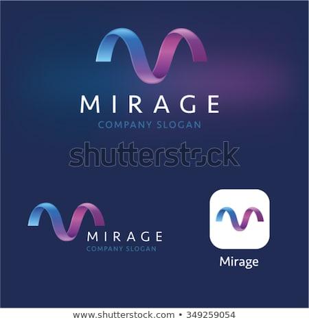 M betű szimbólum logo vektor lila ikon Stock fotó © blaskorizov