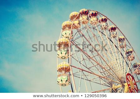 Ferris Wheel Over Blue Sky Stock photo © galitskaya