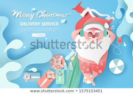 collection of christmas beach holiday santa vector stock photo © robuart