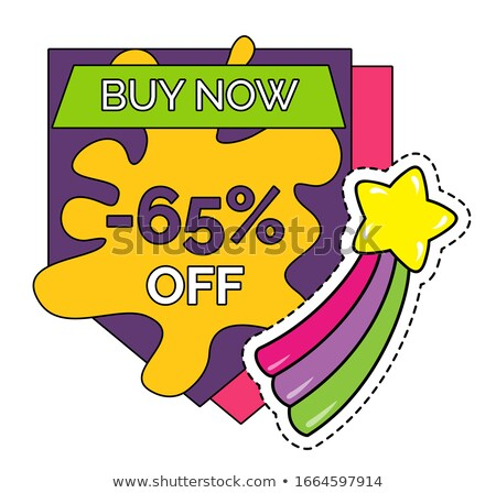 buy now 65 percent discount shop store sale icon stock photo © robuart