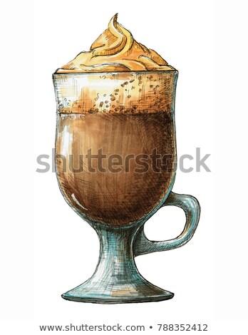 кофе · Martini · три · кофе · пена - Сток-фото © arkadivna
