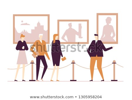 Cultural life - flat design style colorful illustration Stock photo © Decorwithme