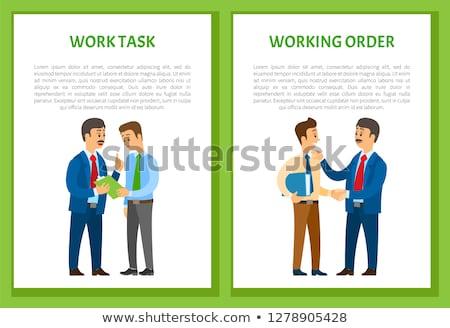 Travail ordre patron directives employé conversation Photo stock © robuart