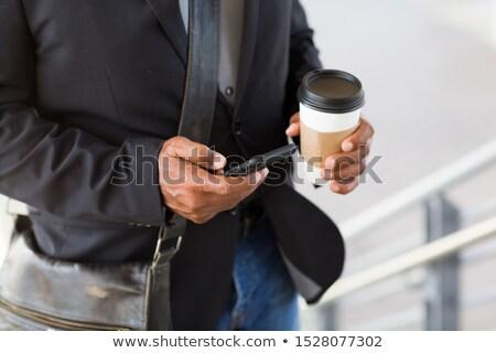 zakenman · werken · kantoor · ceo · aktetas · lopen - stockfoto © robuart