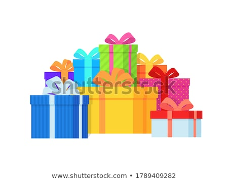 pile of vector wrapped packages shopping packs stock photo © robuart