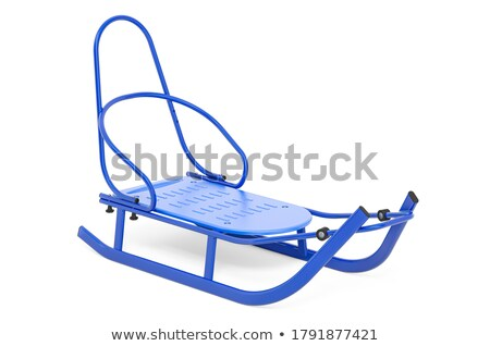 Blue wooden metal sledge 3D Stock photo © djmilic