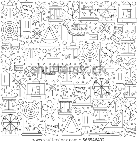 amusement park pattern stock photo © netkov1