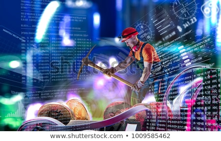 cryptocurrency mine on circuit board stock photo © albund