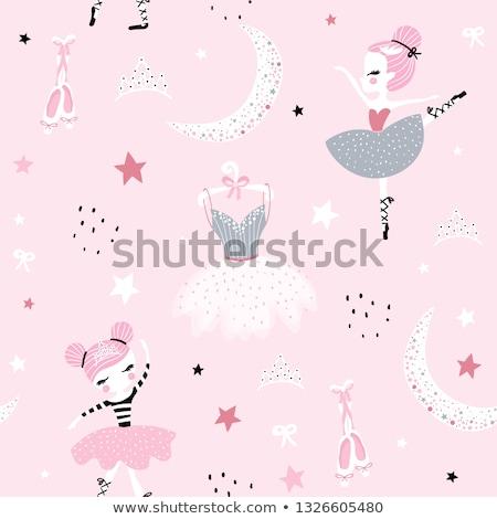 Retro style music vector dance seamless pattern with dancing women Stock photo © Giraffarte