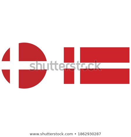 Danish National Colors, Insignia Vector Icons Set Stock fotó © pikepicture