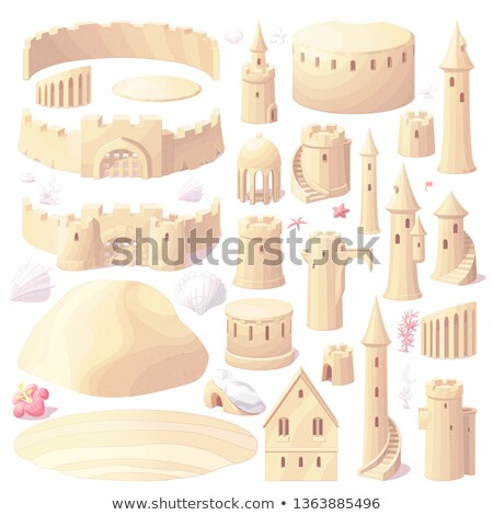 vector castle sand, sandcastle creator, maker stock photo © VetraKori