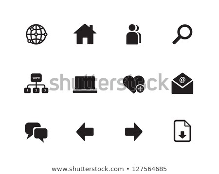 heart search icon on white background, vector illustration. Stock photo © kyryloff