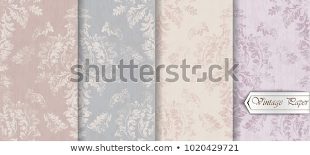 Vintage barroco padrão conjunto vetor floral Foto stock © frimufilms