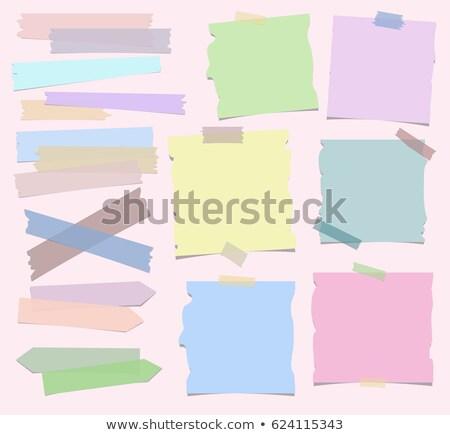 Recordatorio notas brillante color papel fondo Foto stock © inxti