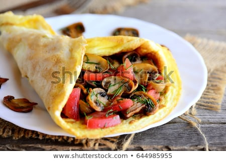 Omelette with veggies Stock photo © grafvision