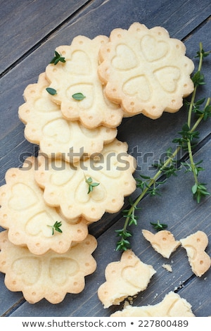 Background of baking gluten free shortbread cookies Stock photo © Melnyk