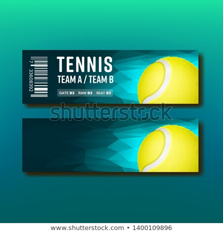 Bright Voucher For Tennis Annual Tournament Vector Stock photo © pikepicture