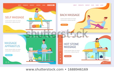 Hot Stone and Back Massages Online Web Page Stock photo © robuart