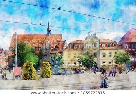 Raiva praça Alemanha um maior edifício Foto stock © borisb17