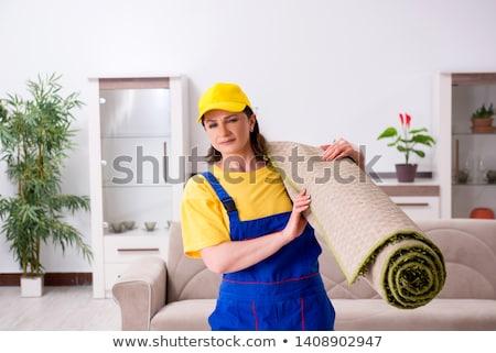 Stock fotó: öreg · női · beszállító · házimunka · munka · dolgozik