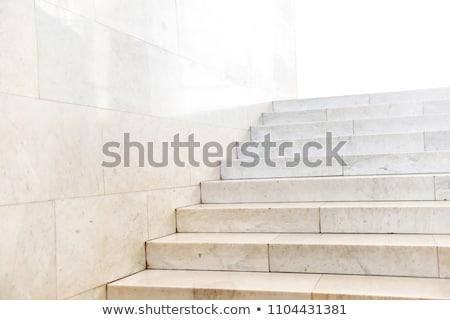 Márvány lépcsőház lépcsősor absztrakt luxus építészet Stock fotó © vapi