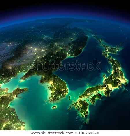 Detailed Earth. Korea and Japan Stock photo © Antartis