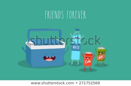 Cartoon refrigerator with an idea stock photo © bennerdesign